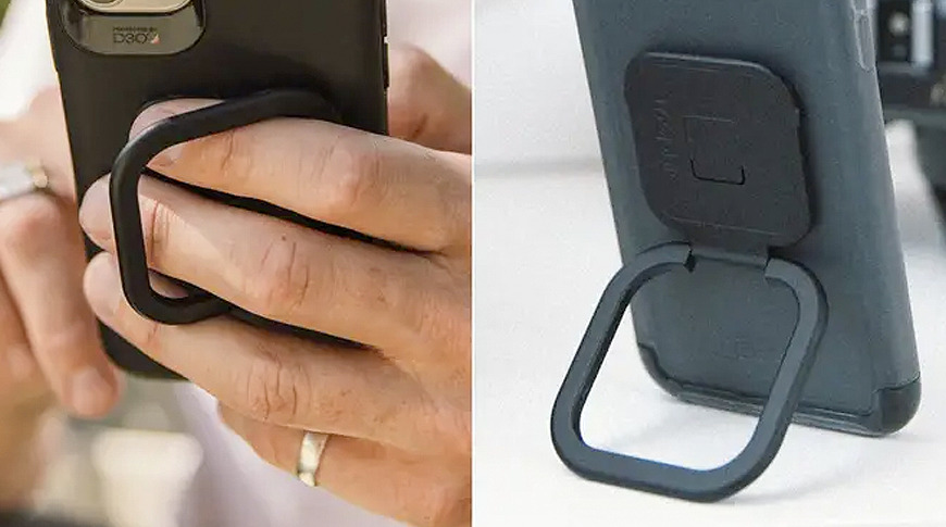 The anchor system can also be used to attach the included phone grip