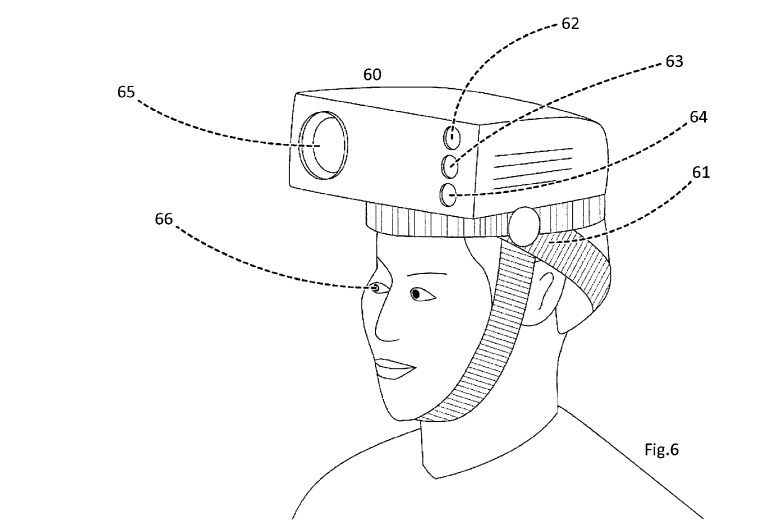 Apple's system would be potentially wearable, but probably not in this way.