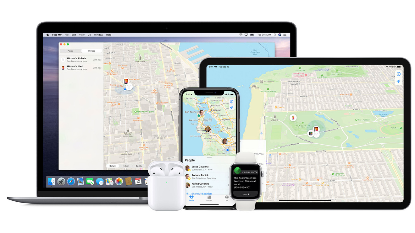 The Find My service supports the full range of Apple products