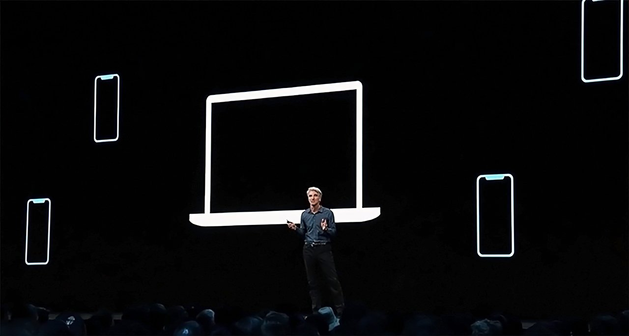 Apple's Craig Federighi discussing the feature at WWDC 2019