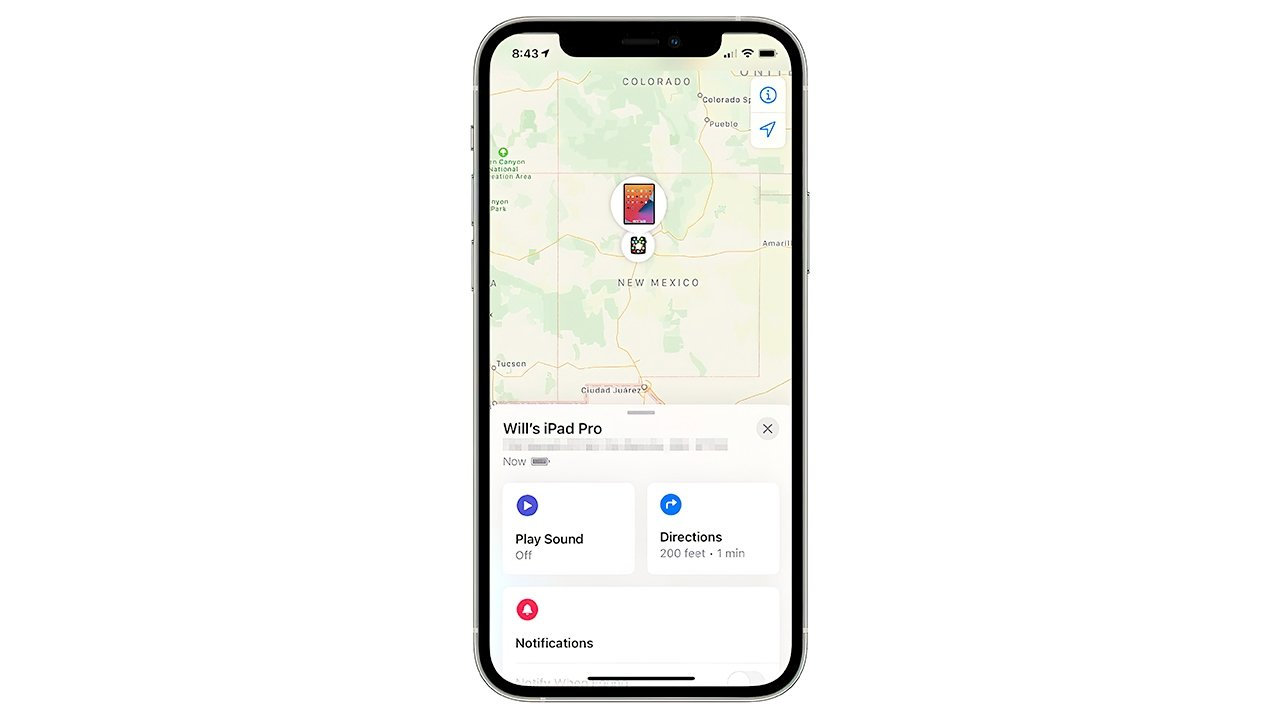 Device-locating options, including directions