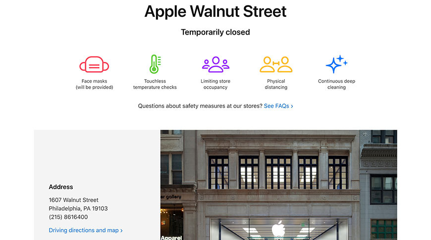 photo of Apple temporarily closes Philadelphia store amid protests image