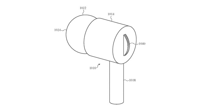 Detail from the patent application showing a rotary volume control