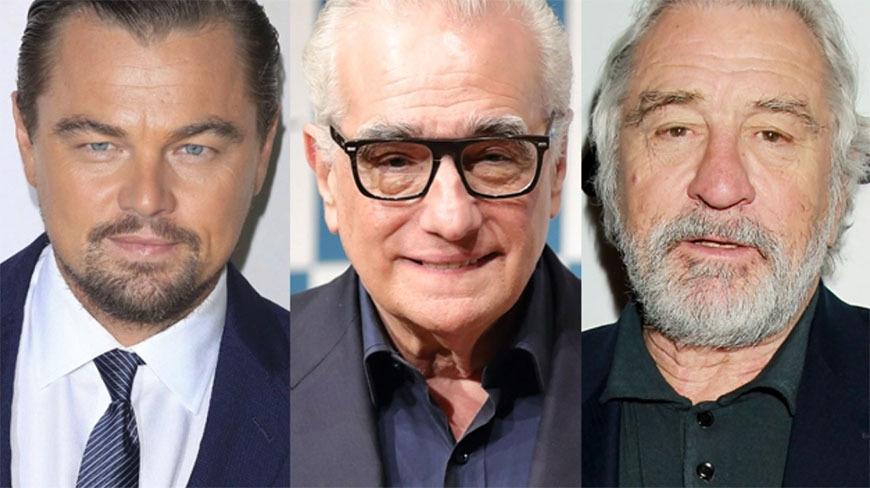Leonardo DiCaprio, Martin Scorsese and Robert De Niro, of