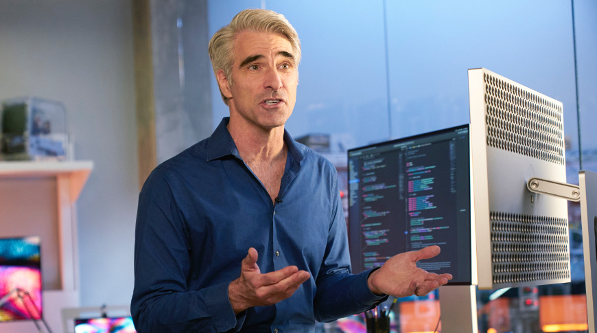 Craig Federighi introducing Apple Silicon