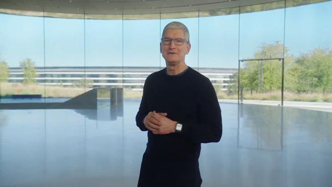 Apple CEO Tim Cook at Apple Park