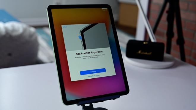 Touch ID setup