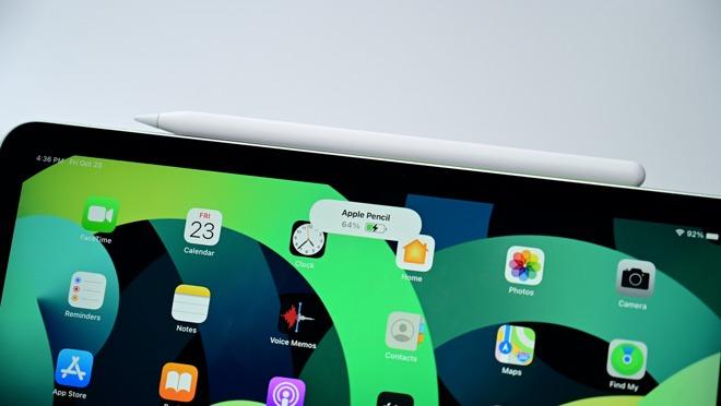 Apple Pencil 2 on iPad Air 4