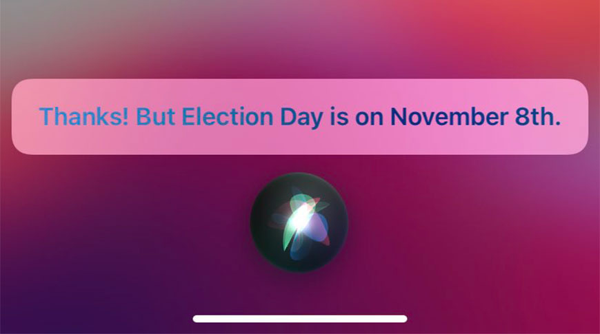 Siri gets Election Day date wrong, Apple fixes issue | AppleInsider