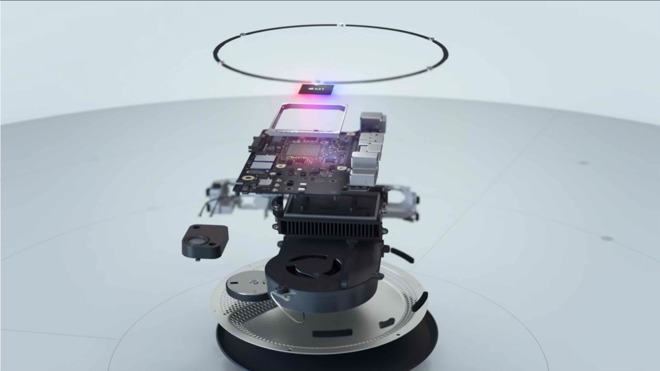 This exploded view may be your only chance to see the insides of the new Mac mini as you can no longer open it to upgrade RAM