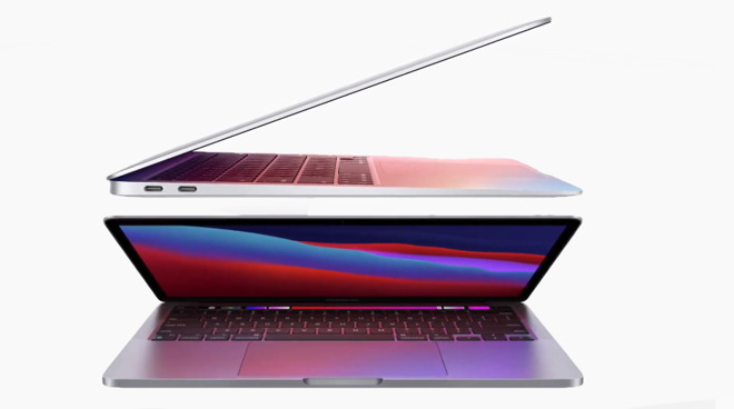 Top: the new MacBook Air. Bottom: the new 13-inch MacBook Pro
