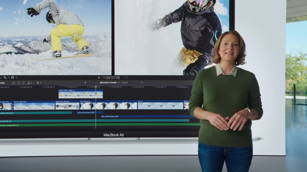 Apple's Laura Metz described how the MacBook Air can now edit multiple 4K video streams at once.