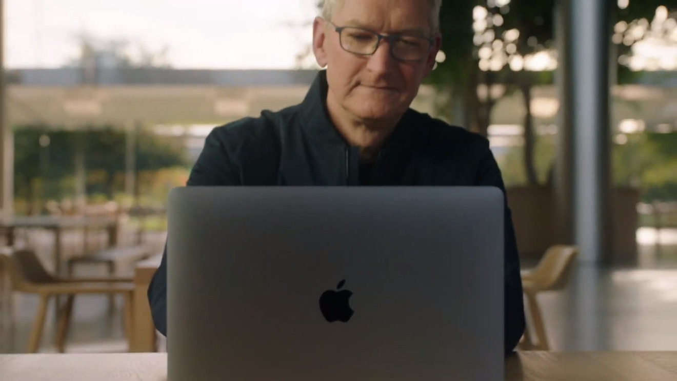 Tim Cook on MacBook