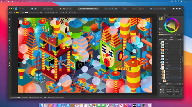 Affinity Designer on macOS Big Sur