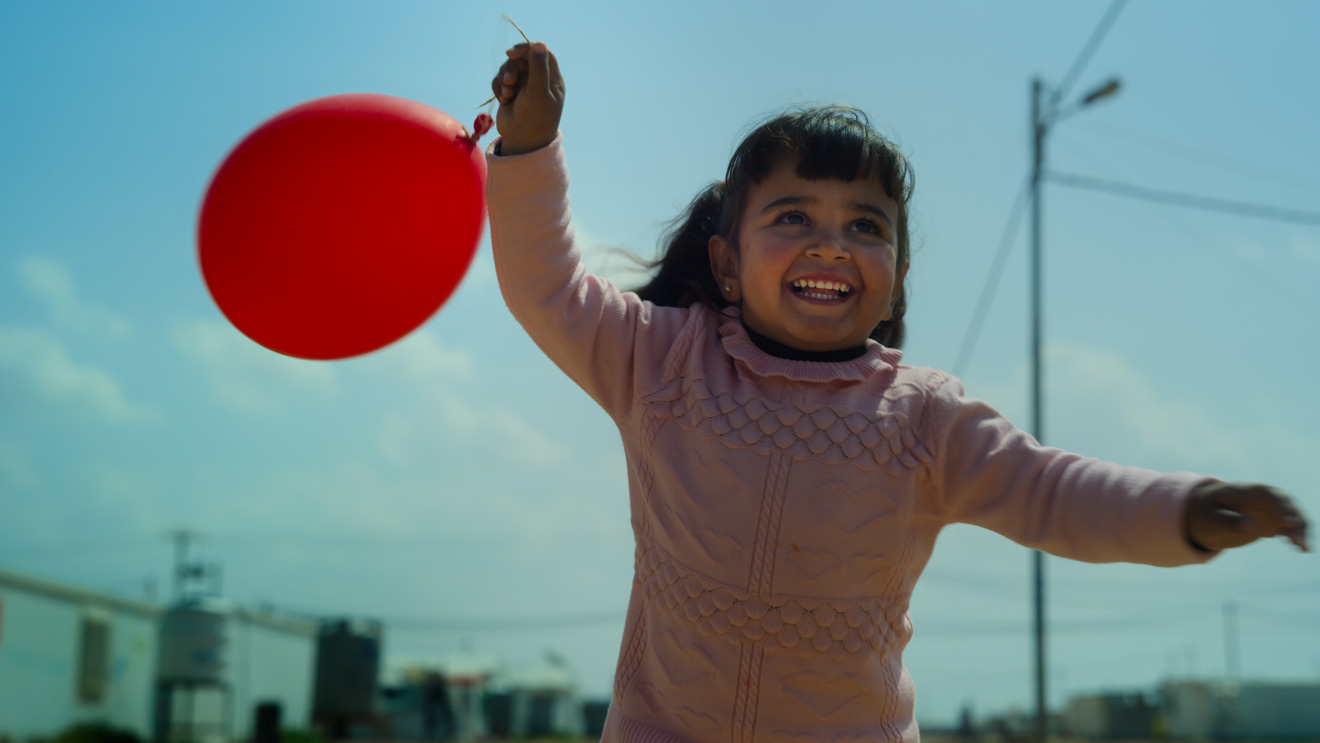 A 3-year-old child from the Zaatari refugee camp in Jordan in