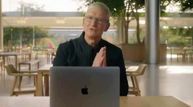 Tim Cook does use that praying gesture quite a lot.