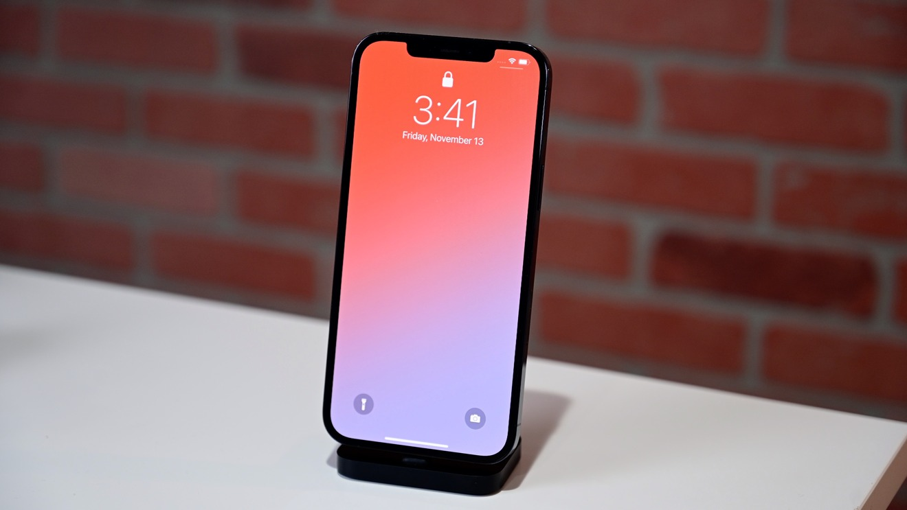 The screen of the iPhone 12 Pro Max