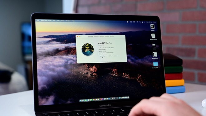 About This Mac no longer shows an Intel processor in the new 13-inch MacBook Pro