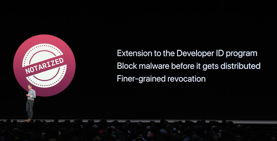 Apple introduced the notarization process to developers in 2018