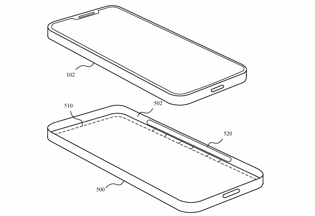 The case could contain magnets and RFID, which could be sensed by the iPhone.