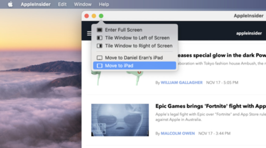 iPad apps can run in full screen or split screen like a regular Mac app