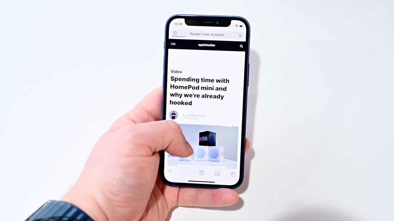 IPhone 12 mini легко использовать одной рукой