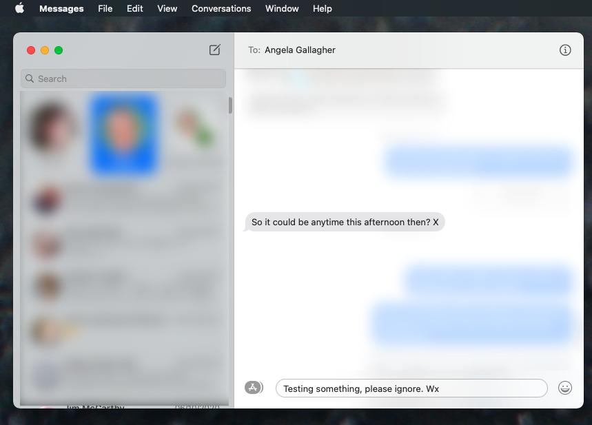 Когда вы отвечаете на конкретное сообщение в очереди, остальная часть беседы скрывается