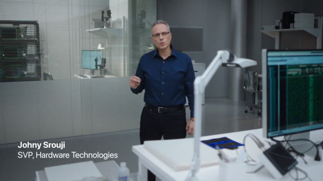 Johny Srouji introducing the M1 processor