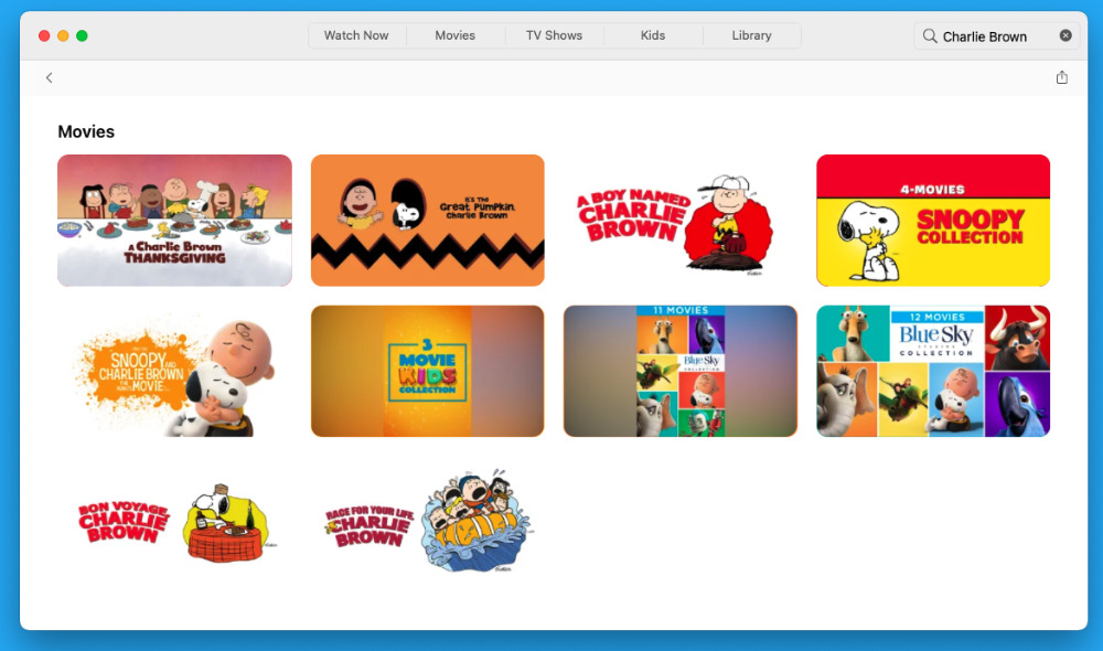 Charlie Brown specials and films on Apple TV+