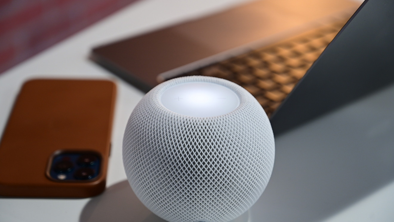 HomePod mini on our desk is great for music, podcasts, and phone calls