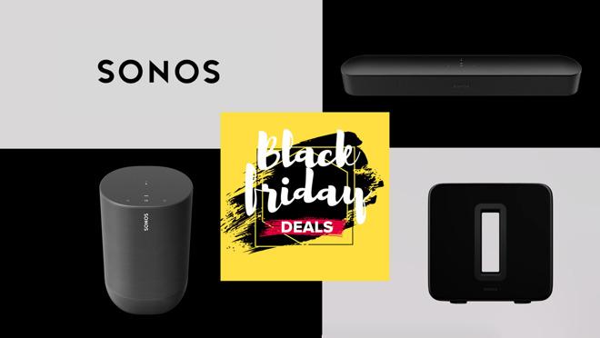 Sonos Black Friday deals on Beam, Sub, Move speaker
