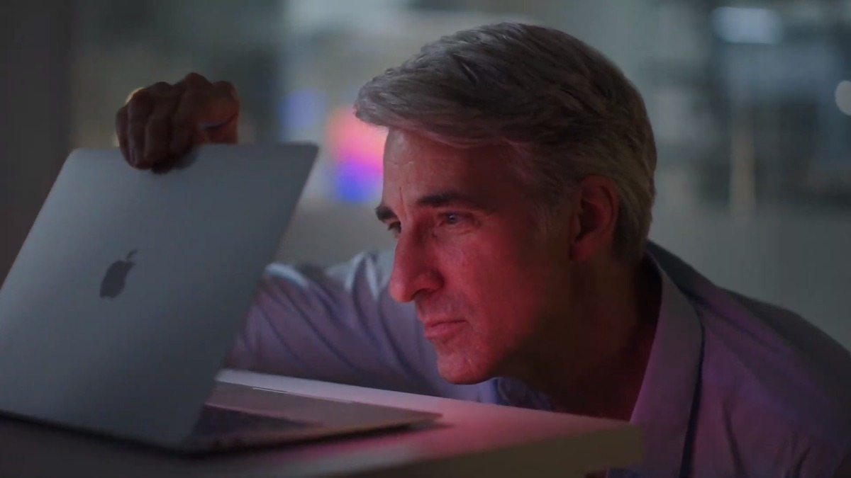 The only thing more talked about than the M1 processor is this shot of Craig Federighi during the launch