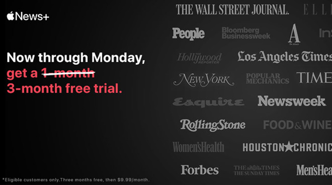 photo of Apple offering free three-month Apple News+ trial now through Monday image