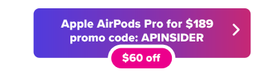 Apple AirPods promo code button