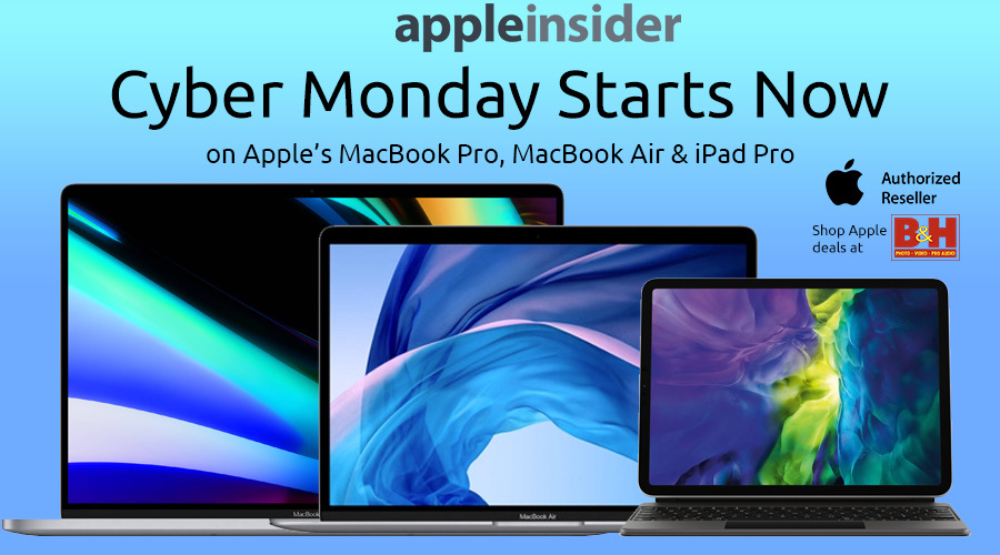 photo of Cyber Monday deals knock $300 off Apple's MacBook Pro, $70-$110 off iPad Pro, $200 off MacBook Air & more image