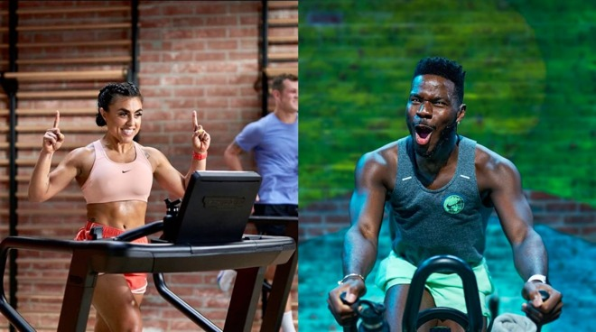 Sam Sanchez and Tyrell Desean, two of the instructors for Apple Fitness+.
