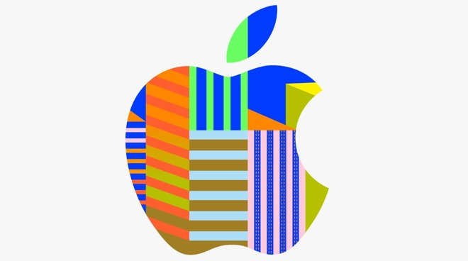 Customized Apple logo for the Yeouido store launch.