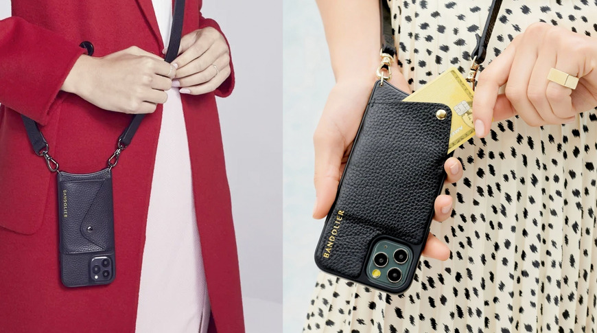Bandolier crossbody cases: Hailey (left) Emma (right)