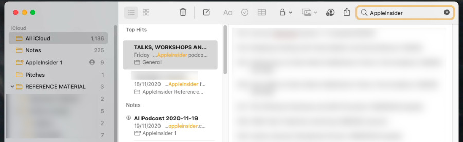 Search now automatically returns Top Hits, just as Mail does