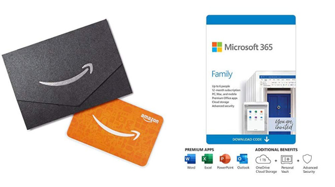 One year of Microsoft 365 with $50 Amazon gift card