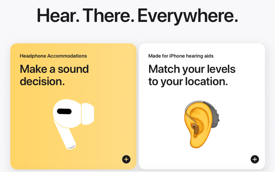 Example from the new Accessibility site's detailing of Apple device features