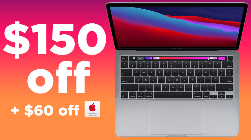 photo of New M1 MacBook Pro (512GB SSD) gets $150 holiday discount, plus $60 off AppleCare image