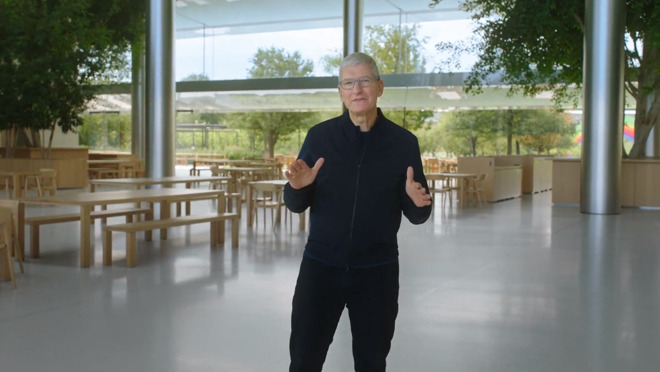 Apple CEO Tim Cook during the third Apple Event in November.