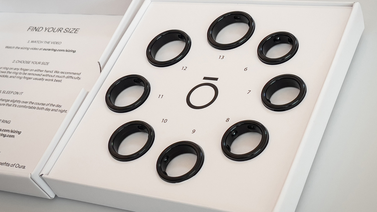 The kit Oura sends you to determine your ring size