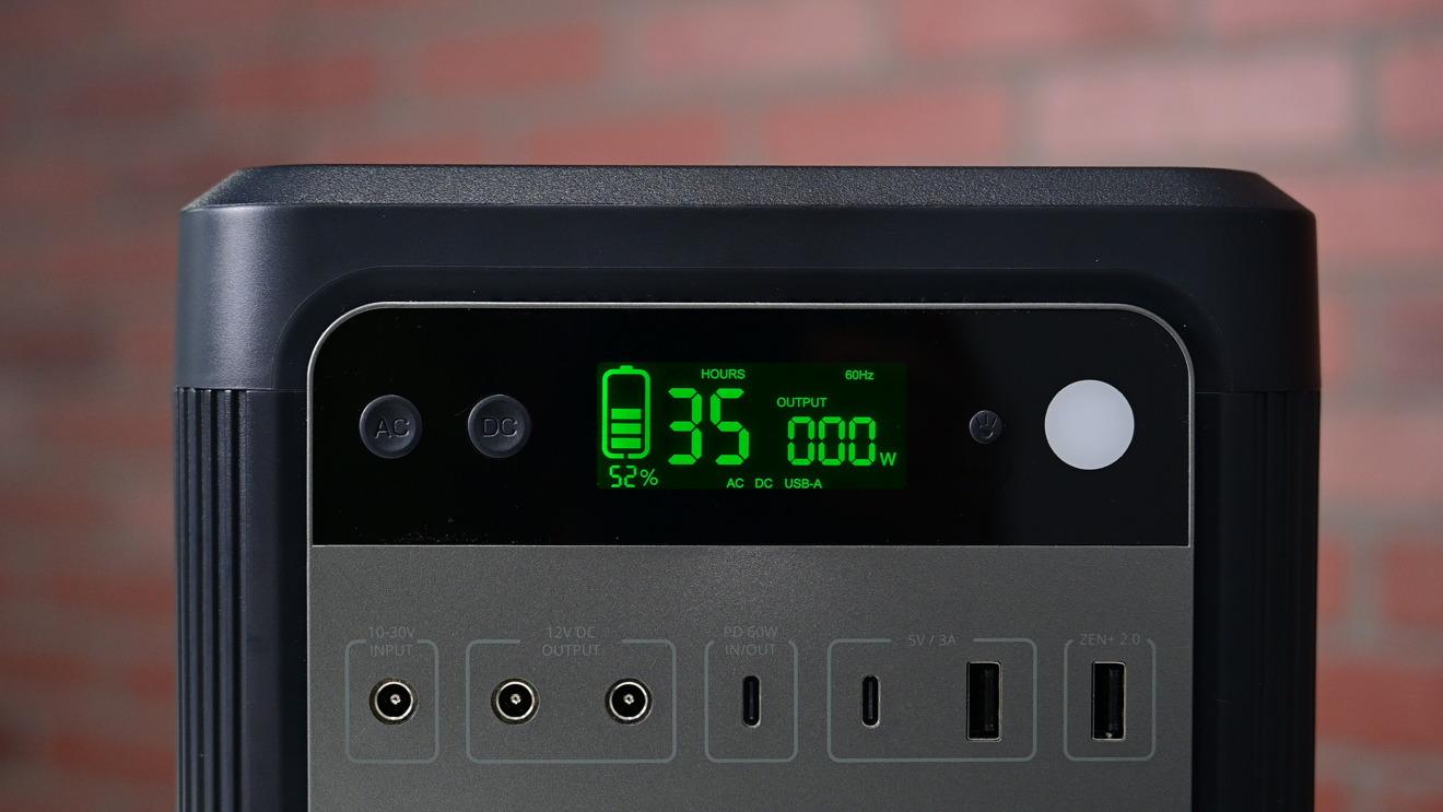 Zendure SuperBase 500 display