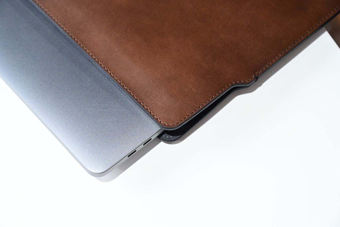 MacBook Pro in the Nomad sleeve