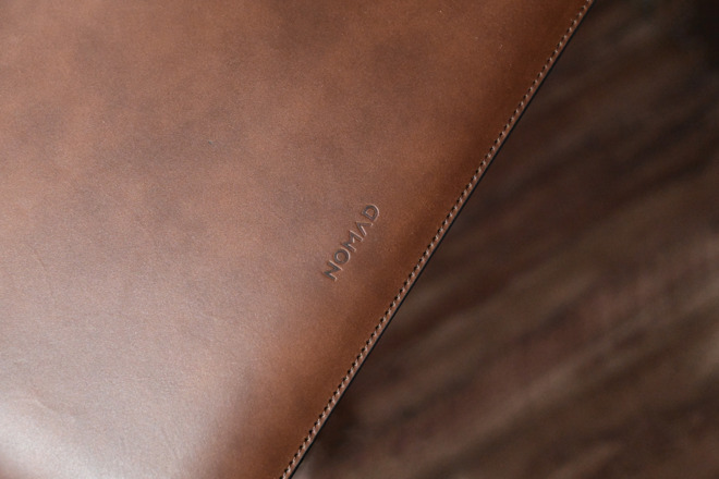 Nomad's Horween leather sleeve for MacBook Pro