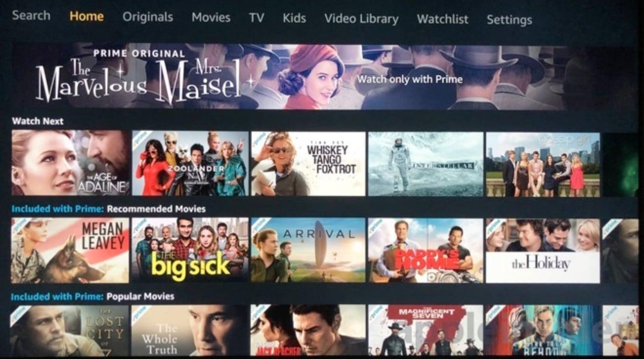 Видео-приложение Amazon предлагает доступ ко всему контенту Prime Instant Video.