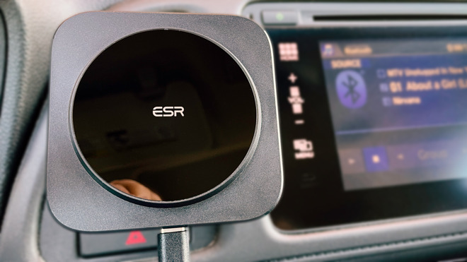 The ESR HaloLock car mount gives you MagSafe compatibility and wireless charging