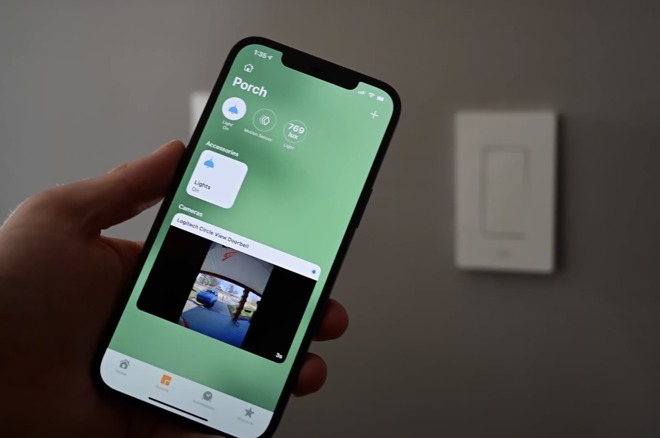 A HomeKit video doorbell in the Home app